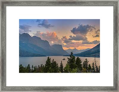 Saint Mary Lake Framed Print by Adam Mateo Fierro