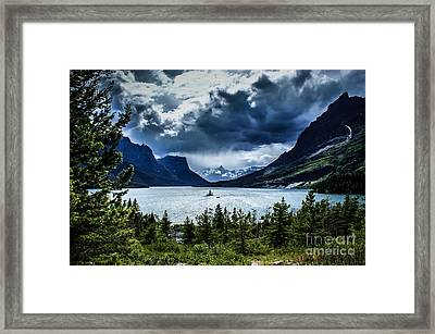 Saint Mary Lake Framed Print by Jim McCain