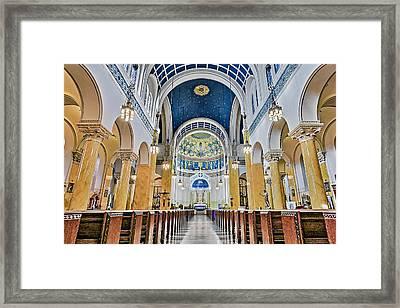 Saint Mary's Altar Framed Print by Susan Candelario