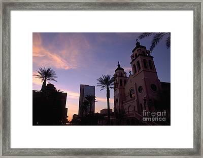 Saint Marys Basilica Phoenix Framed Print