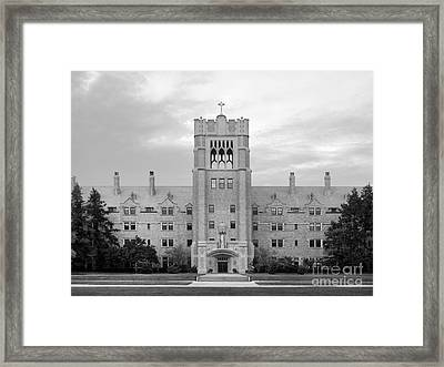 Saint Mary's College Le Mans Hall Framed Print by University Icons