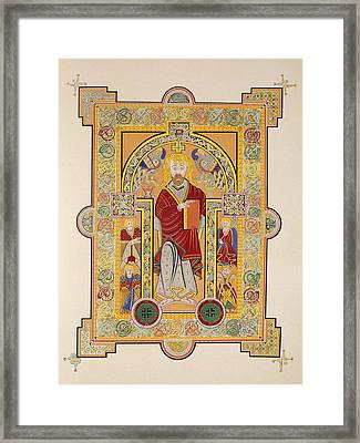 Saint Matthew, From A Facsimile Copy Framed Print by Irish School