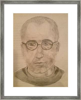 Saint Maximillian Kolbe Framed Print by Noah Burdett