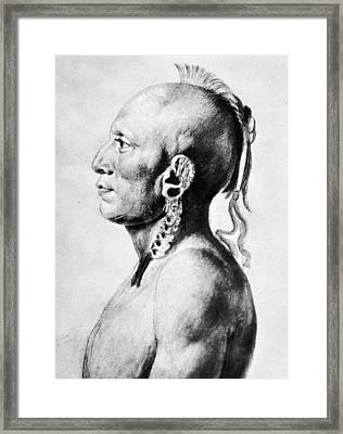 Saint-memin Osage, 1804 Framed Print