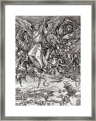 Saint Michael And The Dragon Framed Print