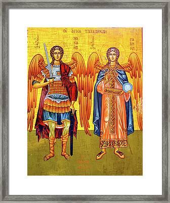 Saint Michael Angels Golden Icon Saint Framed Print