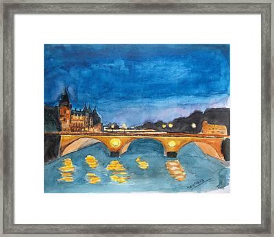 Saint-michael Bvd. Paris Framed Print