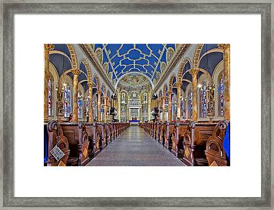 Saint Michael Catholic Church Framed Print by Susan Candelario