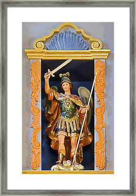 Saint Michael The Archangel Framed Print