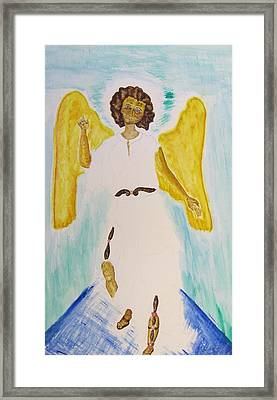 Saint Michael The Archangel Miracle Painting Framed Print by Debbie Nester