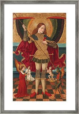 Saint Michael Weighing Souls Framed Print