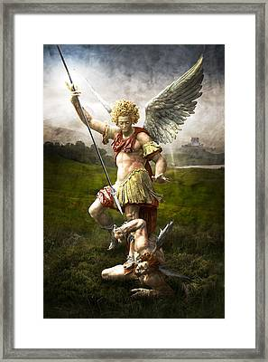Saint Michael's Triumpf Framed Print by Marc Huebner