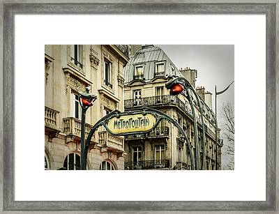 Saint-michel Metro Station Framed Print by Marco Oliveira