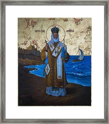 Saint Nicholas Framed Print by Aleksandar Tesanovic