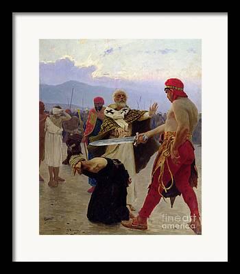 St Nicholas Of Myra Framed Prints