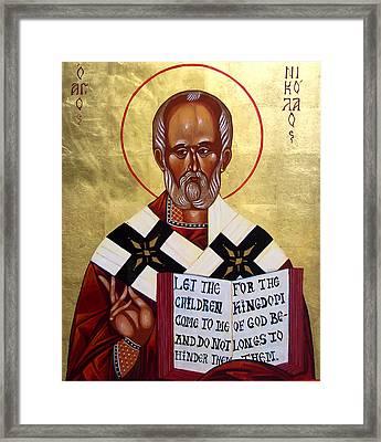 Saint Nicholas The Wonder Worker Framed Print by Joseph Malham