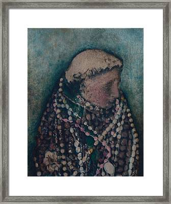 Framed Print featuring the mixed media Saint Of Saints by Carla Woody