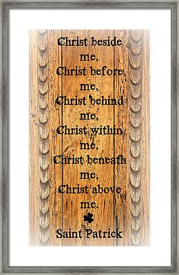 Saint Patrick's Breastplate Framed Print