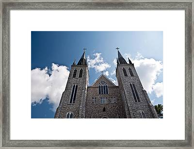 Framed Print featuring the photograph Saint Paul Cathedral In Midland Ontario by Marek Poplawski