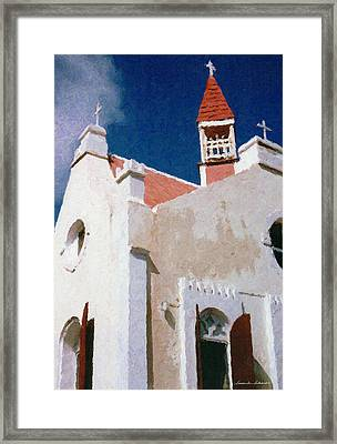 Saint Pauls Conversion Church Saba The Netherlands Antilles Framed Print