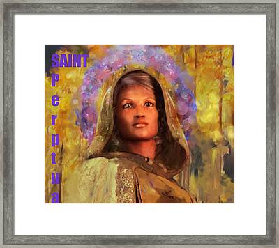 Saint Perpetua/5 Framed Print by Suzanne Silvir