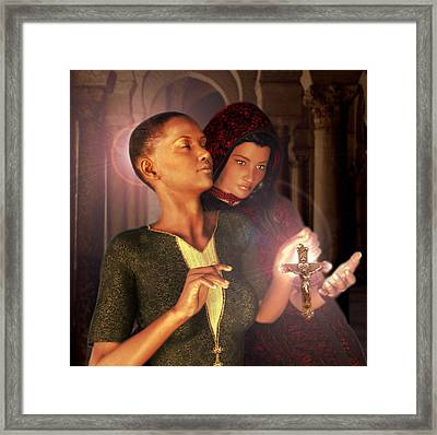 Framed Print featuring the painting Saint Perpetua And Felicity by Suzanne Silvir
