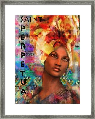 Saint Perpetua Of Carthage Framed Print
