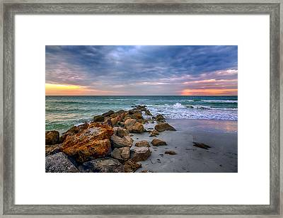 Saint Pete Beach Stormy Sunset Framed Print