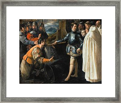 Saint Peter Nolasco Recovering The Image Of The Virgin, 1630 Oil On Canvas Framed Print