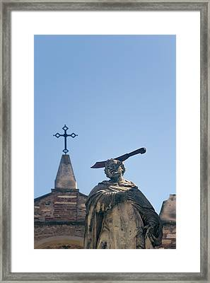 Saint Peter Of Verona  Framed Print by A Rey
