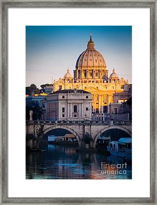 Saint Peter's Dawn Framed Print by Inge Johnsson