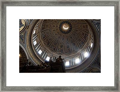 Saint Peter's Light Framed Print by Aaron Bedell