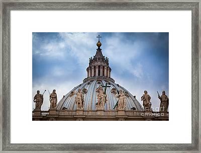 Saint Peter's Roof Framed Print by Inge Johnsson