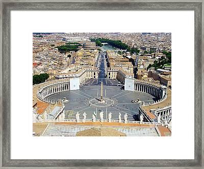 Saint Peter's Square Framed Print