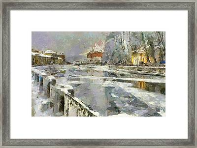 Saint Petersburg At Winter Framed Print by Yury Malkov