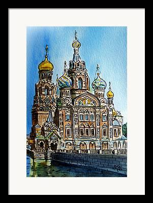 Saint Petersburg Framed Prints