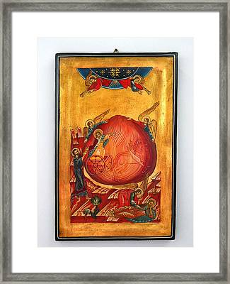 Saint Prophet Elias Hand Painted Russian Byzantine Icon  Framed Print by Denise Clemenco