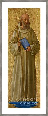 Saint Romuald Framed Print by Fra Angelico