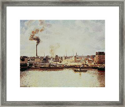 Saint-sever Quay At Rouen, 1896 Framed Print by Camille Pissarro