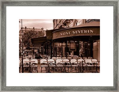 Saint Severin Cafe Toned Framed Print