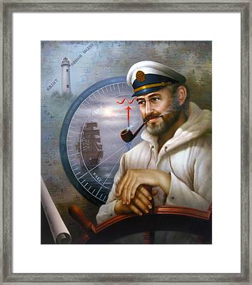 Saint Simons Island Sea Captain 1 Framed Print