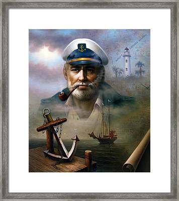 Saint Simons Island Sea Captain 2 Framed Print