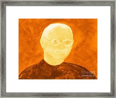 Saint Steven Paul Jobs 3 Framed Print by Richard W Linford