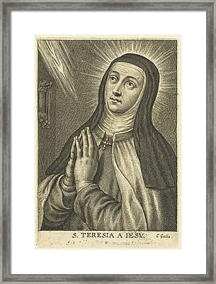 Saint Teresa, Schelte Adamsz Framed Print