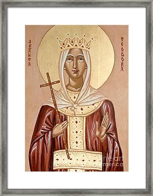 Saint Theodora Of Arta Framed Print by Olimpia - Hinamatsuri Barbu