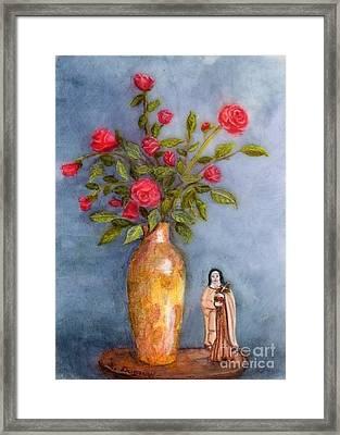 Saint Therese Of The Little Flower Framed Print