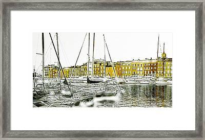 Saint Tropez Framed Print by Frank Tschakert