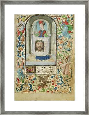 Saint Veronica Lieven Van Lathem, Flemish, About 1430 - Framed Print by Litz Collection