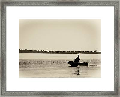 Saintlucieboating Framed Print by Patrick M Lynch