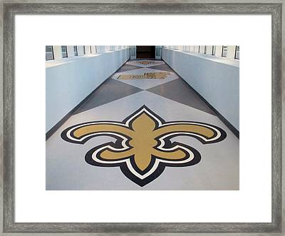Saints Are Coming - Benson Towers - New Orleans La Framed Print